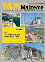 Yapı Malzeme Dergisi Temmuz 2017 Sayısı