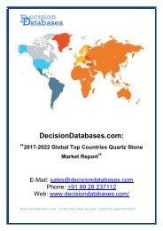 Global Quartz Stone Market Share, Growth and Forecast 2022