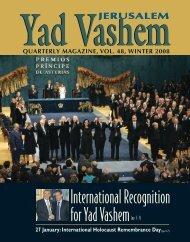 Magazine 48 - Winter 2008 - Yad Vashem