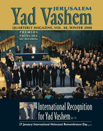 Magazine 48 - Winter 2008 - Yad Vashem