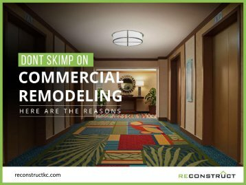 Top Reasons to Consider Commercial Remodeling
