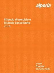 Bilancio d'esercizio e bilancio consolidato 2016