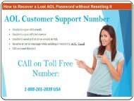 How to Recover a Lost AOL Password without Resetting It
