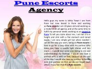 Pune escirts - www.puneescortsagency.co.in - Escorts in Pune