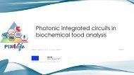 Circuitos Integrados Fotónicos en análisis bioquímicos de alimentos