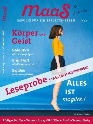 maaS No.5 Blick ins Heft