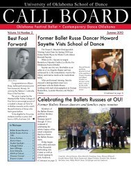 Call Board - University of Oklahoma