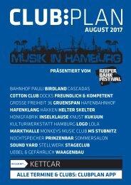Clubplan Hamburg - August 2017
