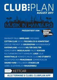 Clubplan Hamburg - August 2017
