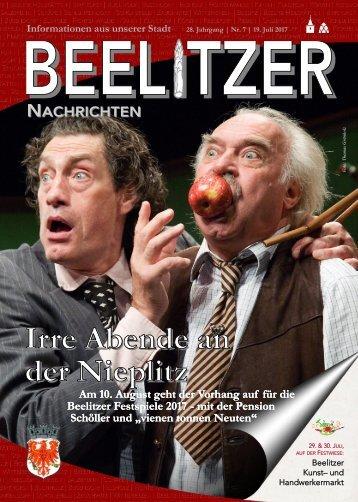 Beelitzer Nachrichten - Juli-August 2017