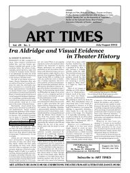 Ira Aldridge and Visual Evidence in Theater History - Art Times