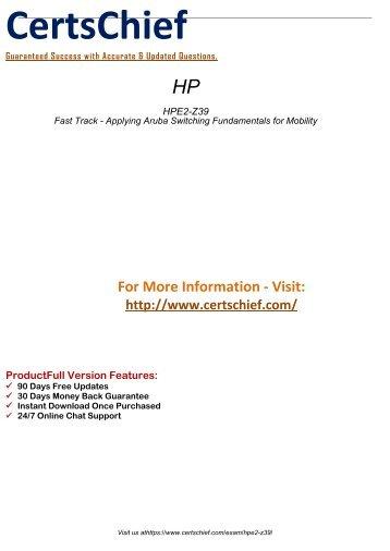 HPE2-Z39 PDF Demo