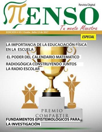 Tercera edición Revista Pienso