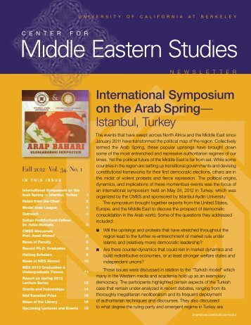 CMES newsFall 12_3_web.pdf - Center for Middle Eastern Studies ...