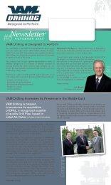 Newsletter #6 - VAM Drilling