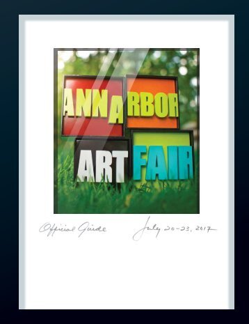 2017 Ann Arbor Art Fair Official Guide