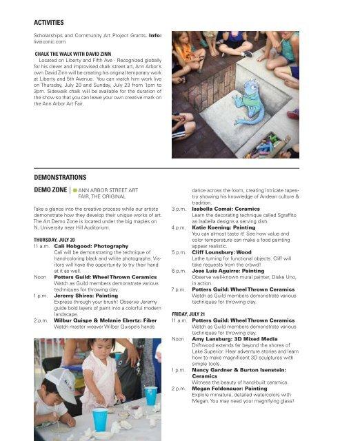 2017 Ann Arbor Art Fair Official Guide