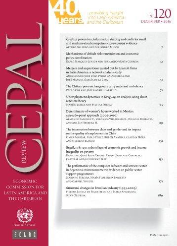 CEPAL Review no. 120