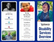 Gateway Counseling Center Disability Services Overview Trifold
