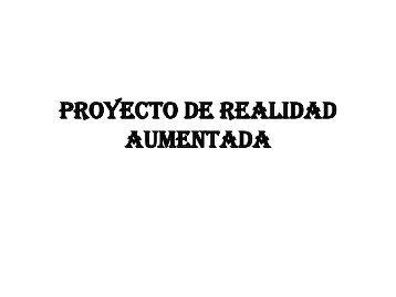 PROYECTO DE REALIDAD AUMENTADA