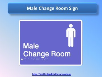 Male Change Room Sign