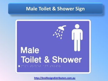 Male Toilet & Shower Sign