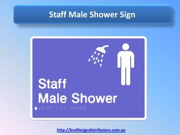 Staff Male Shower Sign