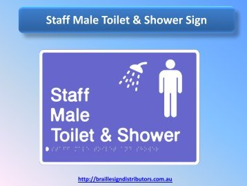 Staff Male Toilet & Shower Sign