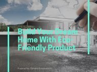 Build Your Dream Home With Eco-Friendly Product