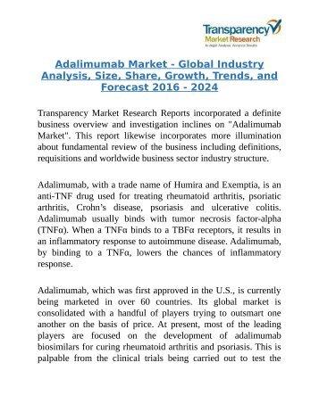 Adalimumab Market