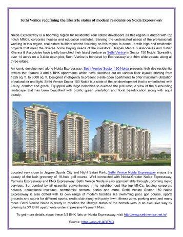 Sethi Venice a luxury residency on Noida Expressway
