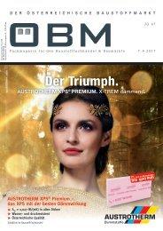 2017-7 ÖBM Der Österreichische Fachmarkt - Der Triumph Austrotherm XPS Premium X-TREM dämmend