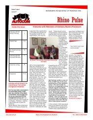 Rhino pulse-Jul to Dec 2017