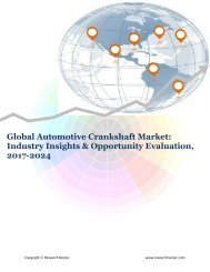 Global Automotive Crankshaft Market (2017-2024)- Research Nester