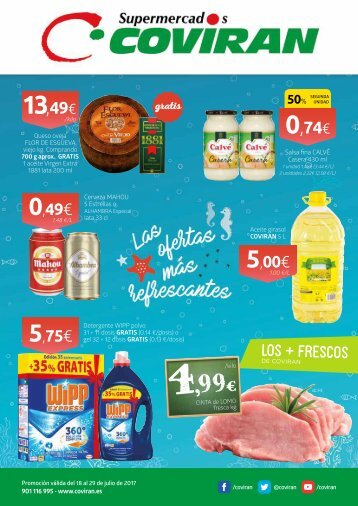 Folleto Supermercados Coviran del 18 al 29 de Julio 2017