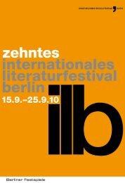 19.09.10 - Internationales Literaturfestival Berlin