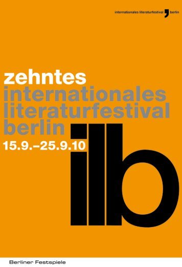 19.09.10 - Internationales Literaturfestival Berlin
