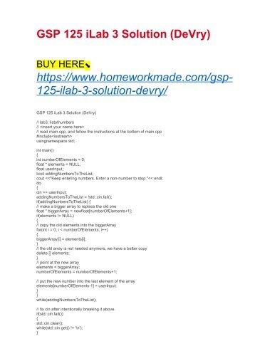 GSP 125 iLab 3 Solution (DeVry)