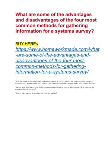 What are some of the advantages and disadvantages of the four most common methods for gathering information for a systems survey?