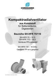 Baureihe SH-HFR 75/110 - Schmidhammer Kunststoffe