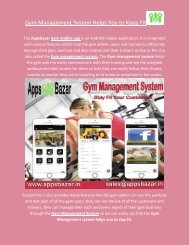 Gym Management System Helps you to keep fit
