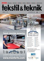 Tekstil Teknik Dergisi Temmuz 2017 Sayısı