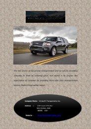 Private Transportation And Car Service in Utah
