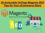 26 Actionable OnPage Magento SEO Tips for Your eCommerce Store