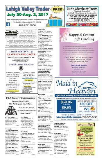 Lehigh Valley Trader July 20-August 2, 2017 issue