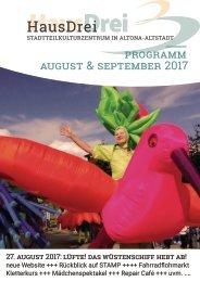 HausDrei Programm August/ September 2017