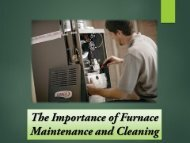 The Importance of Furnace Maintenance and Cleaning