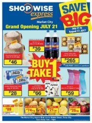 SHOPWISE EXPRESS CATALOG ends August 17, 2017