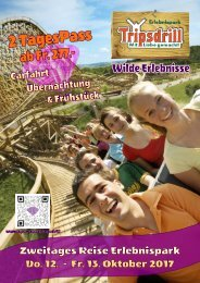Zweitages Reise zum Erlebnispark Tripsdrill 12.-13. Oktober 2017