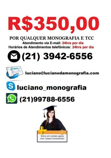 R$350,00 MONOGRAFIA TCC